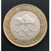 Moeda Portugal Bimetálica Comemorativa Jogos Olímpicos Sidney 200 Escudos 2000 SOB