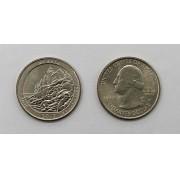 Moeda Quarter Dollar Acadia-2012-D- (flor de cunho)