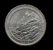 Moeda Quarter Dollar Acadia National Park 2012 D SOB