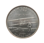 Moeda Quarter Dollar North Carolina 2001 D FC