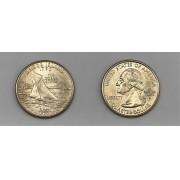 Moeda Quarter Dollar Rhode Island-2001-P (flor de cunho)