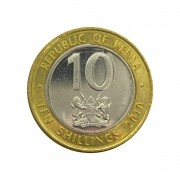 Moeda Quênia 10 Shilllings 2010 SOB