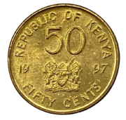 Moeda Quênia 50 Cêntimos 1997 SOB