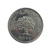 Moeda Tunísia 1 Millim FAO 2000 FC