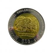 Moeda Uruguai Comemorativa Bicentenária 10 Pesos 2015 FC