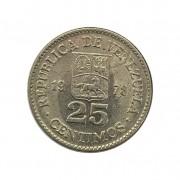 Moeda Venezuela 25 Centavos 1989 MBC