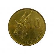 Moeda Zâmbia Fauna 10 Ngwee 2012 SOB