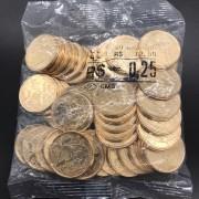 SACHÊ 0,25 CENTAVOS 2020 com  moedas