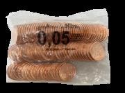 Sache Lacrado Moeda 5 centavos 2019 Fabricada na Holanda
