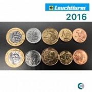 Set de Moedas do Real 2016 (FC) Em coin Holder Leuchtturm