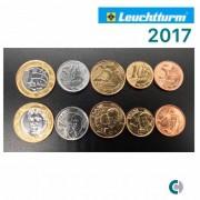 SET de Moedas do Real 2017 (FC) em coin holder Leuchtturm