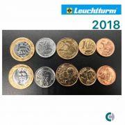 Set de Moedas do Real 2018 (FC) em coin holder leuchtturm
