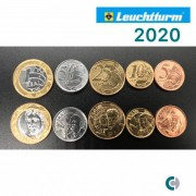 Set de moedas do Real  2020 (FC) em coin holder Leuchtturm