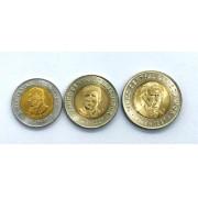 Set de moedas Equador-3 moedas Bimetalicas