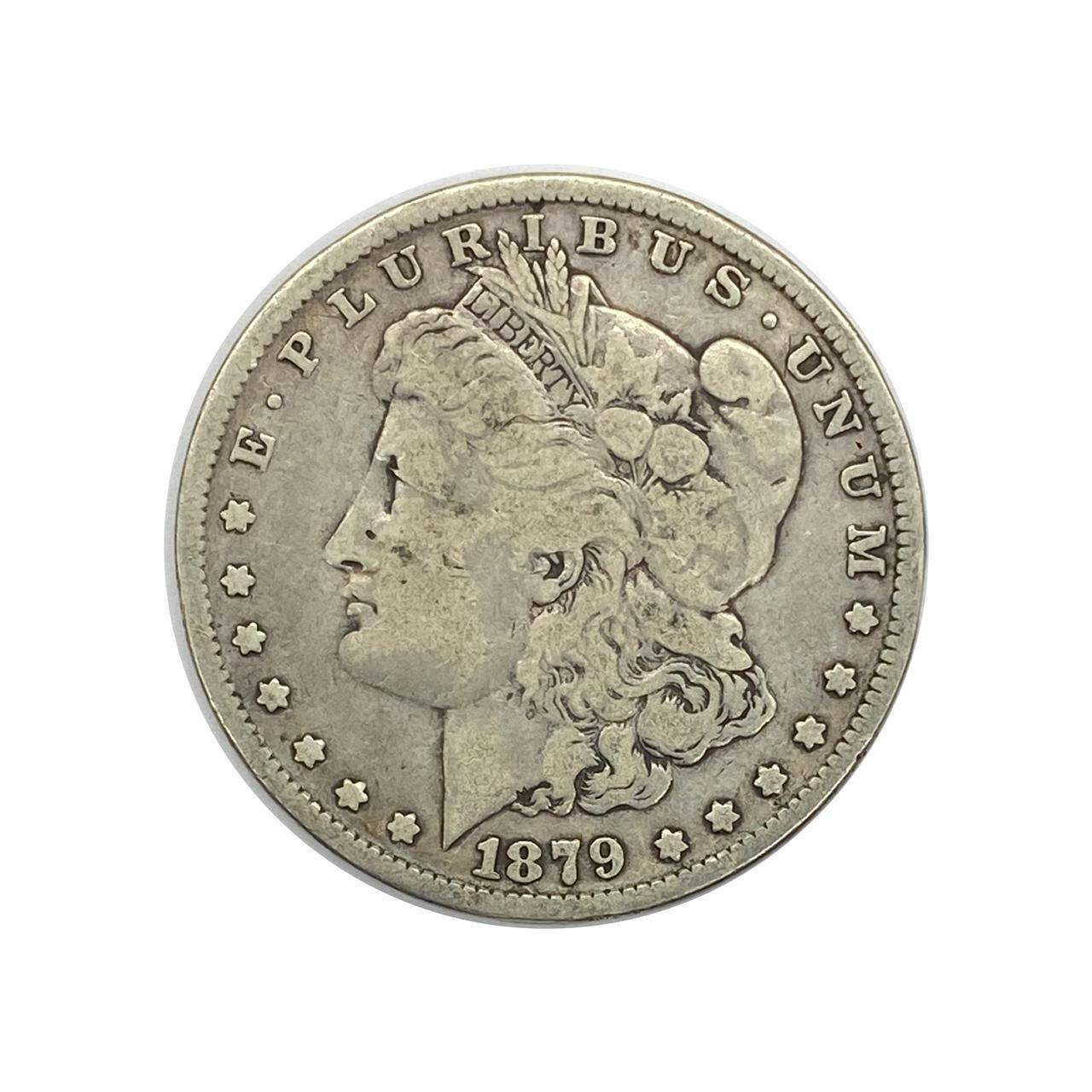 1 Dollar 1879 S SOB - Morgan Dollar EUA América