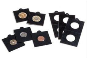 Caixa com 25 coin holders Leuchtturm (Preto)