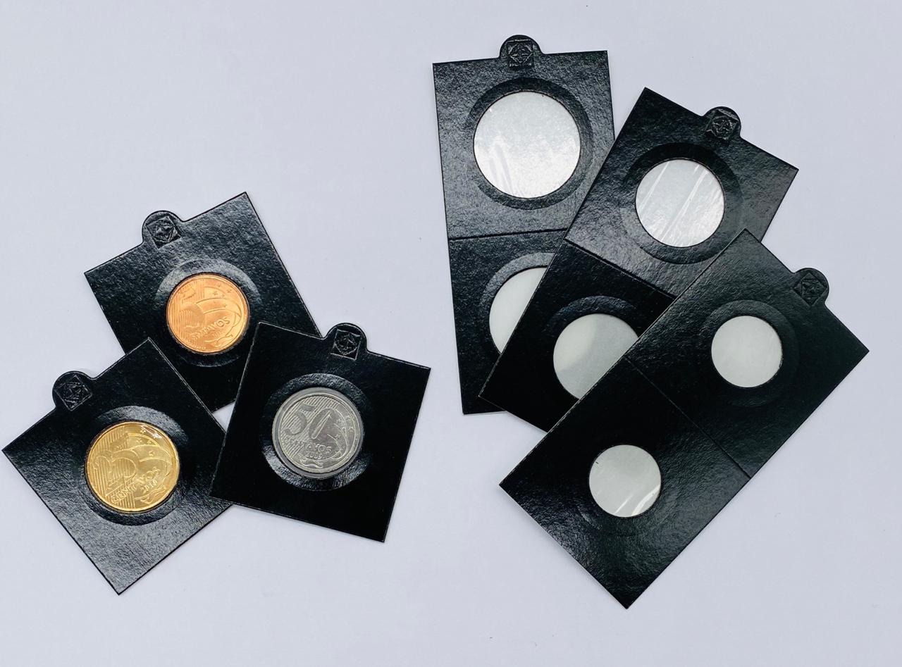 25 Coin Holders Leuchtturm (Preto)