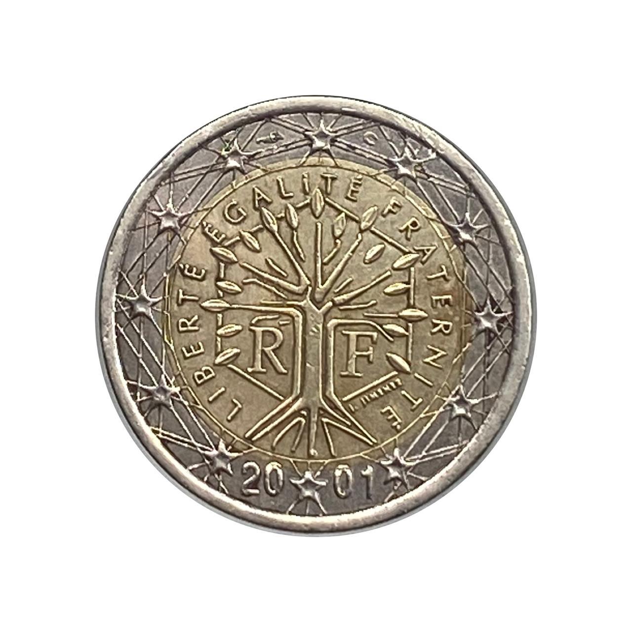 Moeda França 2 Euros 2001 MBC