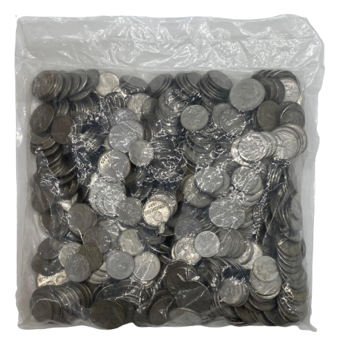 3 kilos de Moedas Inox  Padrão Monetário Cruzeiros-Cruzados Novos - Cruzeiro Reais