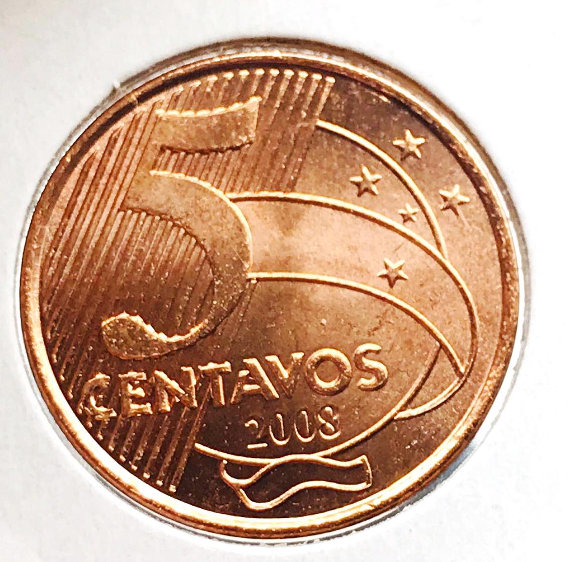 5 CENTAVOS 2008-FC ESCASSA-RARA