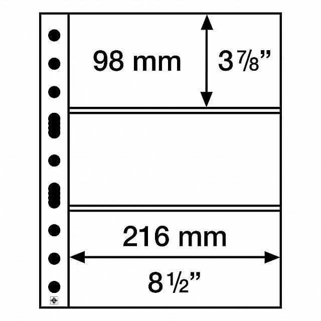 5 Folhas Grandes para Cédula 3C LEUCHTTURM - No 308439