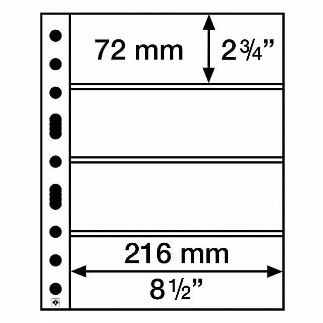 5 Folhas Grandes para Cédulas 4C Leuchtturm - Ref. 316329