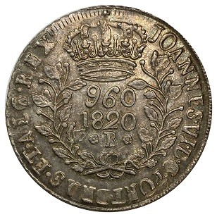 960 Reis 1820 B (patação)