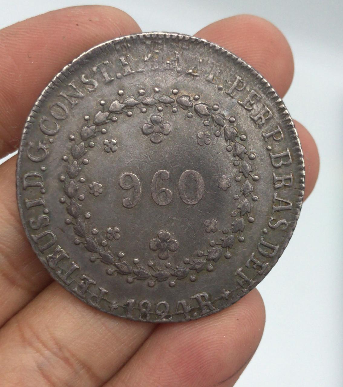 PATACÃO 960 REIS 1824 R  IMPÈRIO