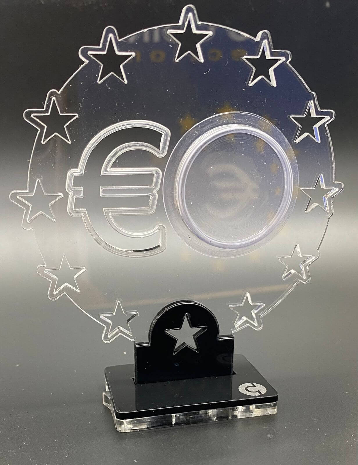 Acrílico vazio para Moedas de 2 Euros