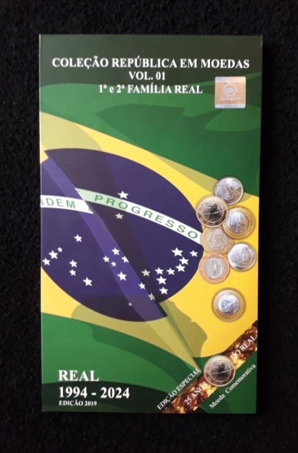 ÁLBUM 1ª E 2ª FAMÍLIA DO REAL 1994 - 2024 (COM COMEMORATIVAS) - V1