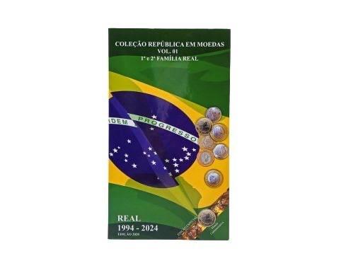 ÁLBUM  FAMÍLIA DO REAL 1ª E 2ª  1994 - 2024 (COM COMEMORATIVAS)