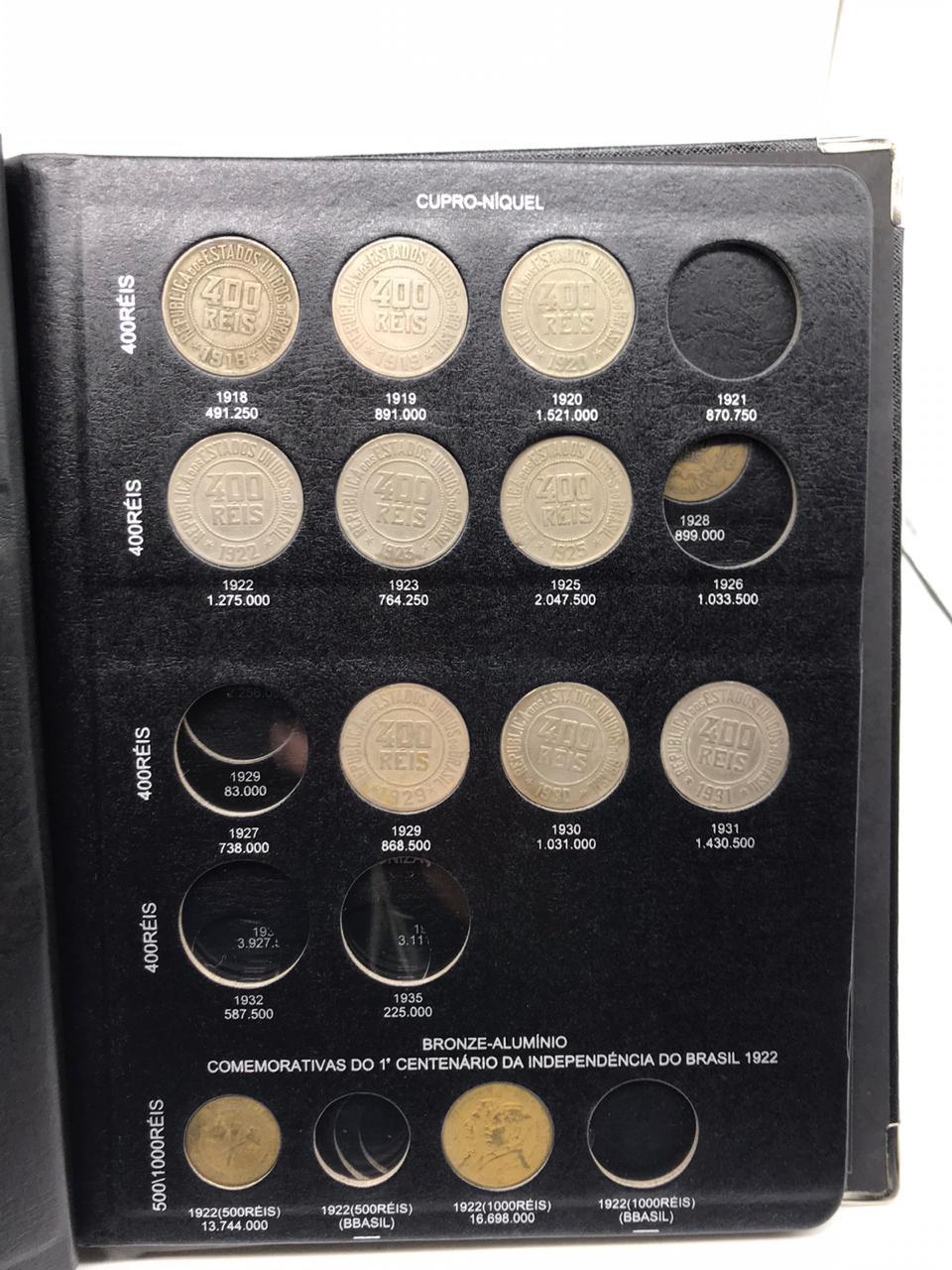 Album Luxo com box N° 1 / 1889-1939 (República) com as moedas