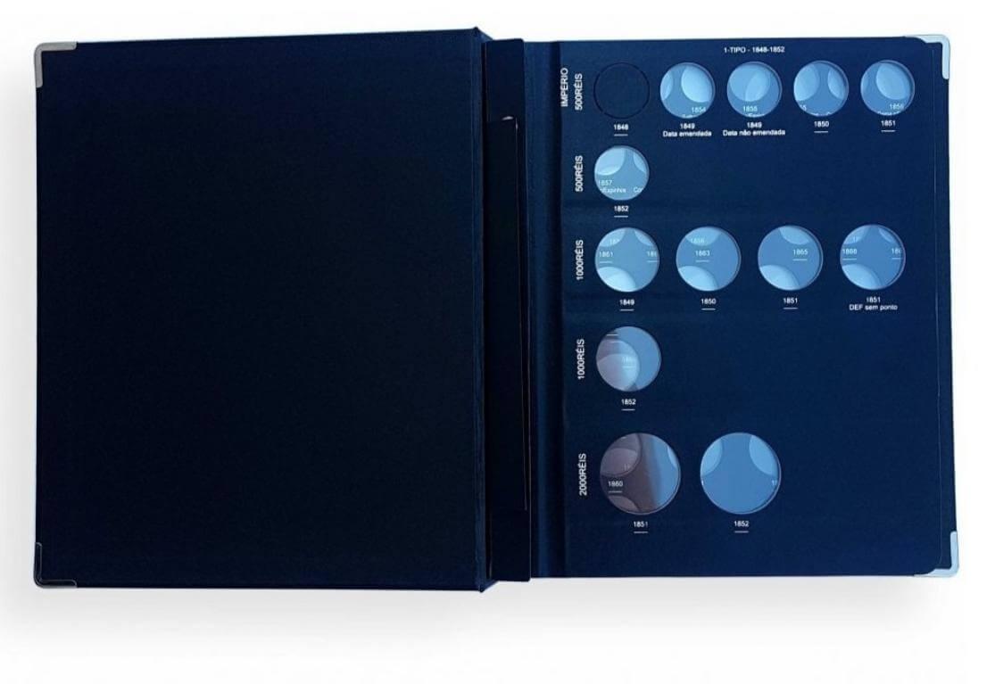 Álbum Luxo com box  N° 6 / 1848 -1889 (Império)