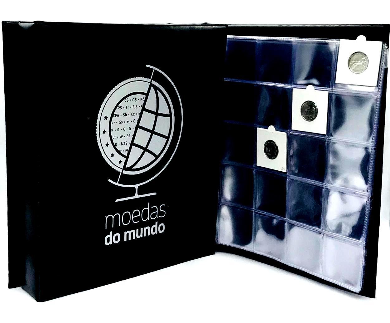 Álbum MOEDAS DO MUNDO + 10 FOLHAS  MOEDAS DE BRINDE