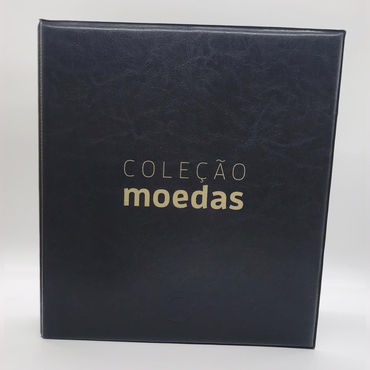 Álbum tipo Fichário Coleção de Moedas