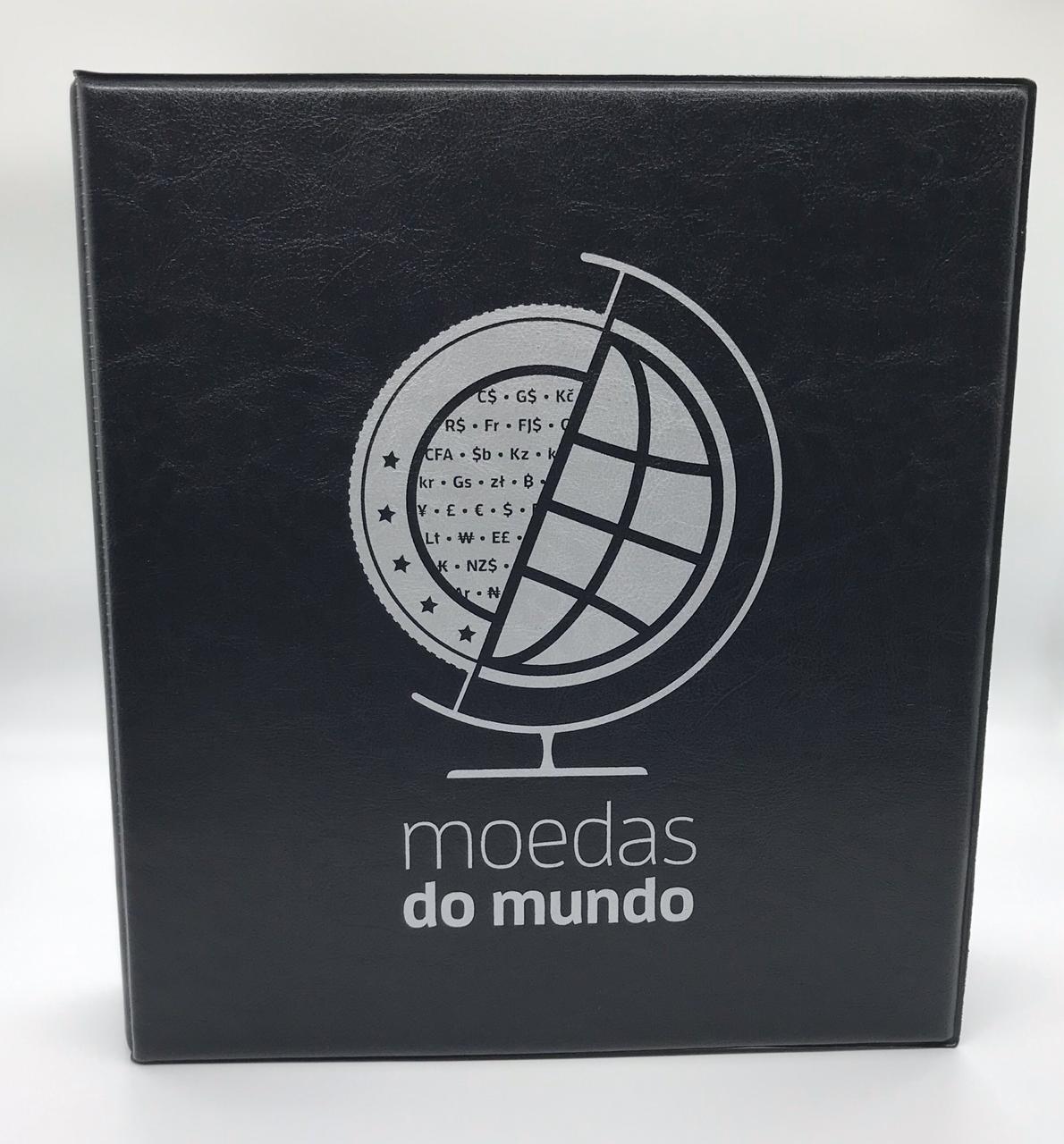 Álbum tipo Fichário Moedas do Mundo