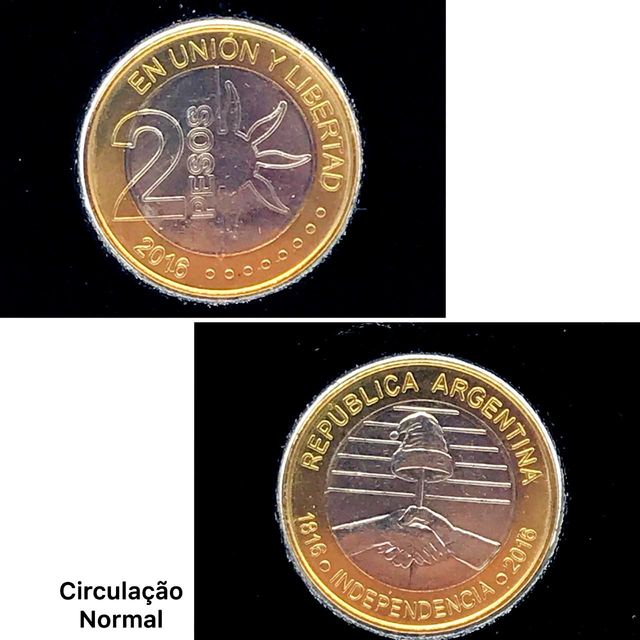 Argentina Bimetalica-Comemorativa Independencia 1816-2018