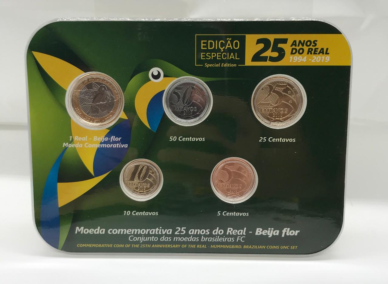 Blister 25 Anos do Real 2019 NÂO OFICIAL