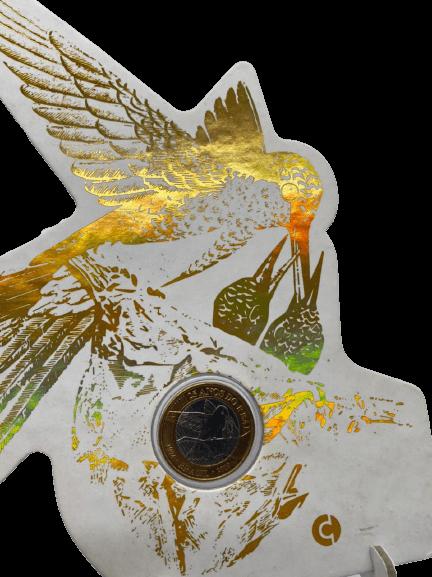 Blister Beija-flor 25 Anos do Real ? Gold