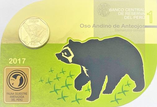 Blister Fauna do Peru 2017 Urso de Óculos FC