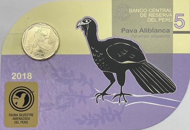 Blister Fauna Peru 1 Sol 2018 Jacu-de-asa-branca FC