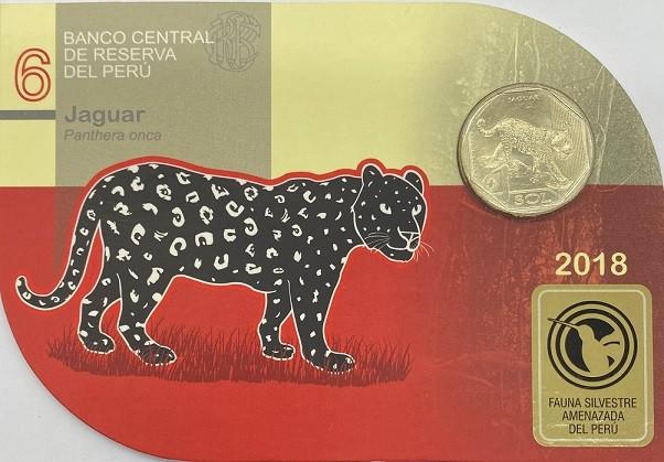 Blister Fauna Peru 1 Sol 2018 Jaguar FC
