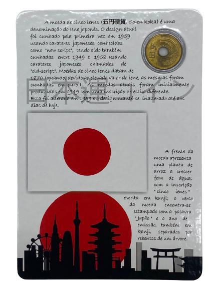 Blister Moeda do Japão (moeda da sorte)