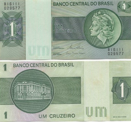 C132 Cédula Brasil 1 Cruzeiro 1980 FE
