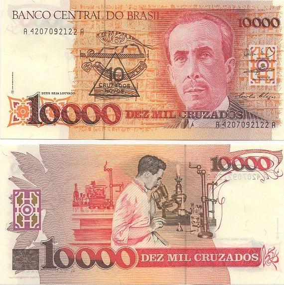 C203 Cédula 10.000 Cruzados Carlos Chagas FE