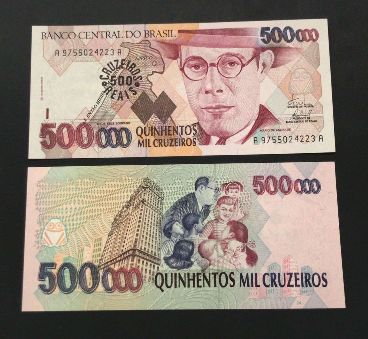 C236 Cédula 500.000 Cruzeiros Mário de Andrade FE