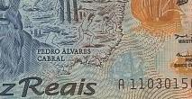 C332 Cédula Brasil 10 Reais Polímero (Pedro Alvares Cabral) MBC