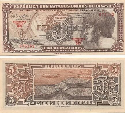 C-111 5 Cruzeiros 1962 MBC Índio Série: 085