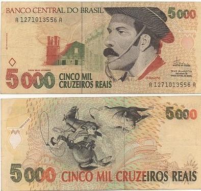 C 239  5.000 Cinco Mil Cruzeiros 1993 SOB Gaúcho