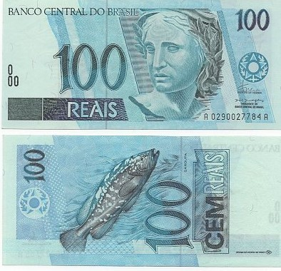 C 325 Cédula 100 Reais Fernando H. Cardoso/Pedro S. Malan-MBC